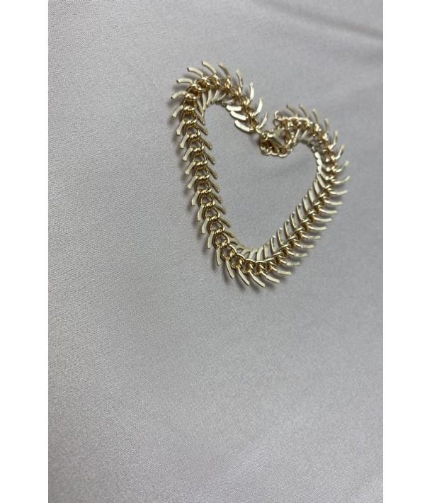 Золотий браслет риб'ячий скелет