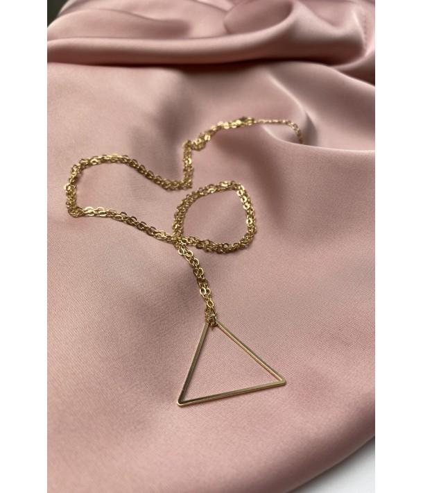 Золотий ланцюг з підвіскою трикутник