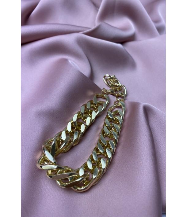 Золотой браслет с крупными звеньями