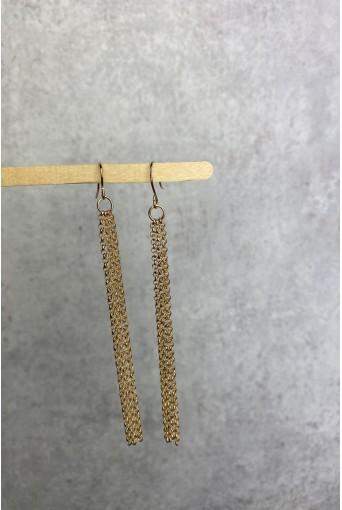 Золотые серьги-цепочки