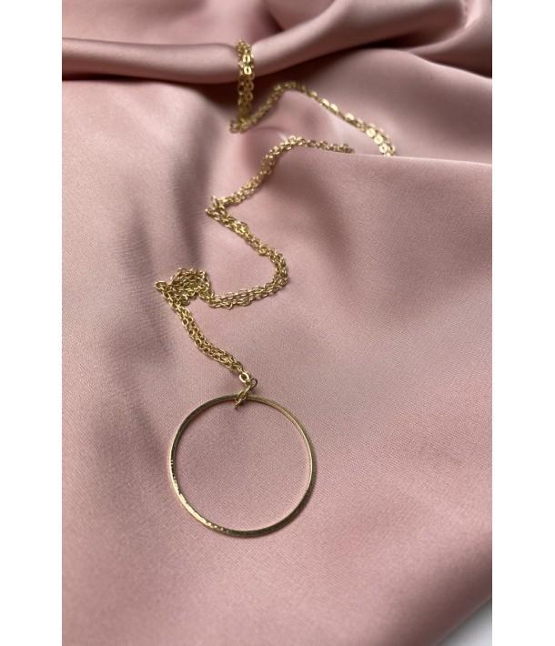 Золотий ланцюг з підвіскою велике кільце