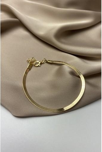 Золотий браслет плоска ялинка