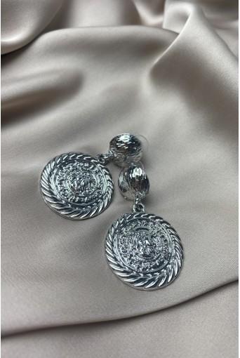 Серебряные серьги монеты