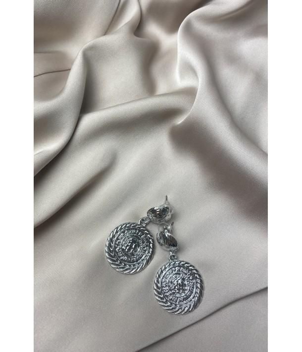 Срібні сережки монетки