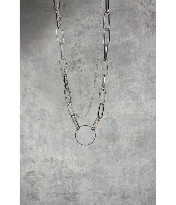 Ланцюжок сріблястий з кільцем