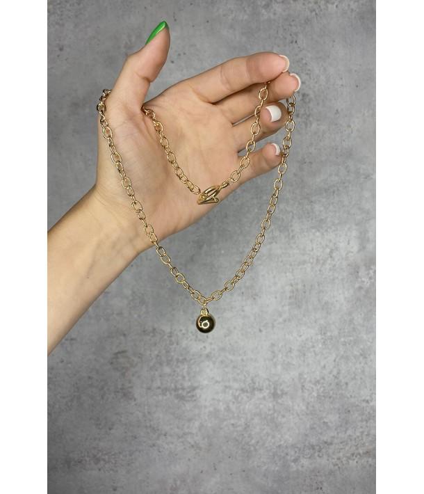 Цепочка золотая с подвеской