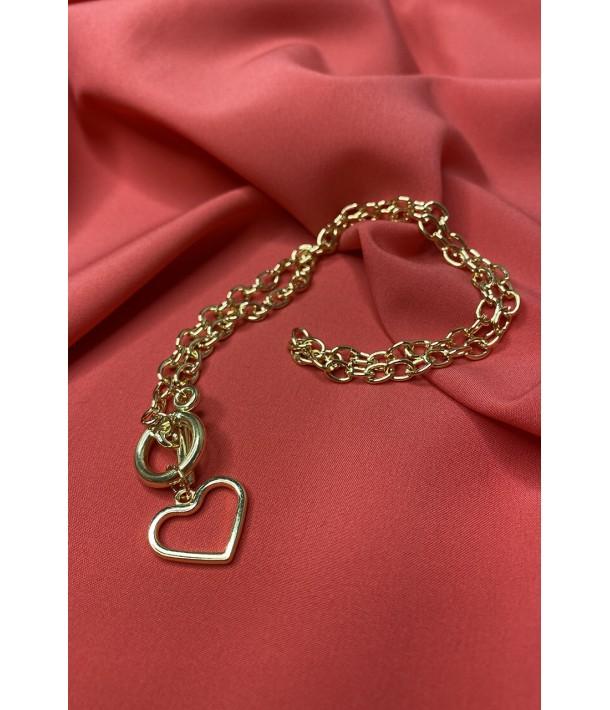 Ланцюжок золотий з серцем