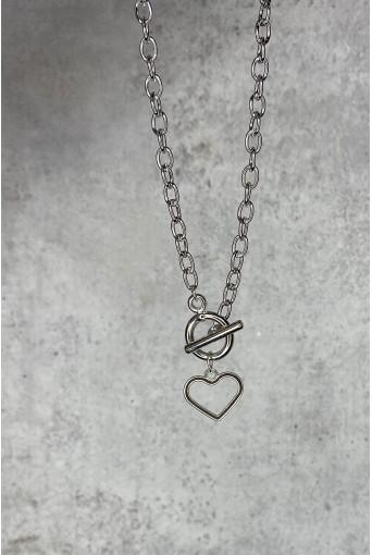 Ланцюжок срібний з серцем