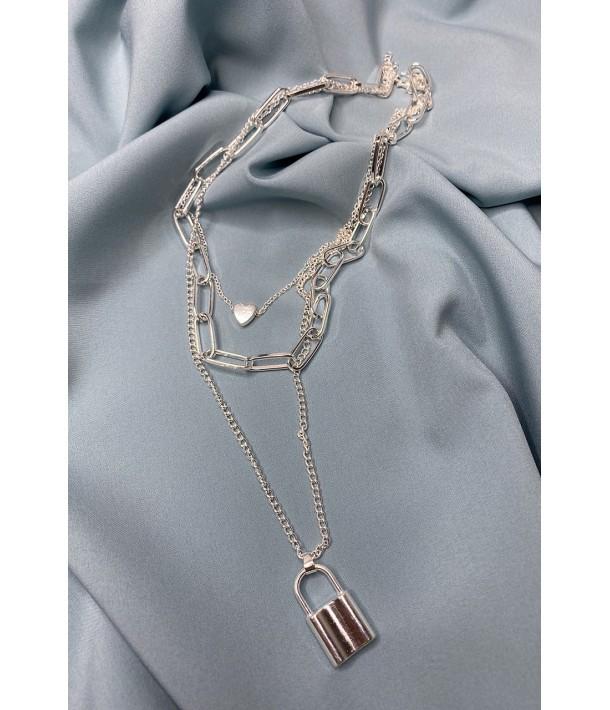 Ланцюжок срібний з замочком