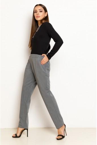 Графитовые женские брюки на резинке