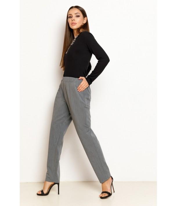 Графітові жіночі брюки на резинці
