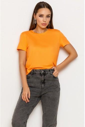 Помаранчева жіноча трикотажна футболка
