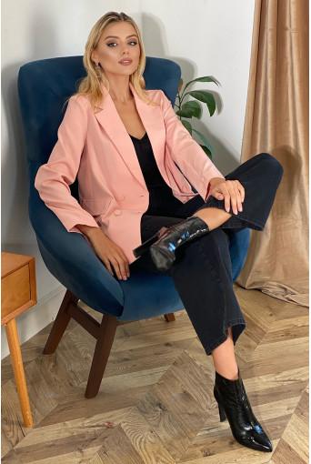 Жакет оверсайз персиковый