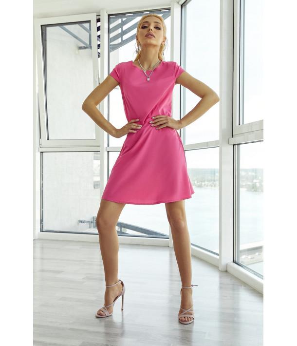 Платье мини приталенное фуксия