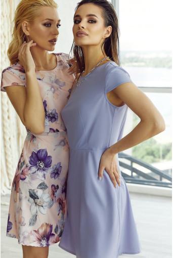 Платье мини приталенное лавандовое